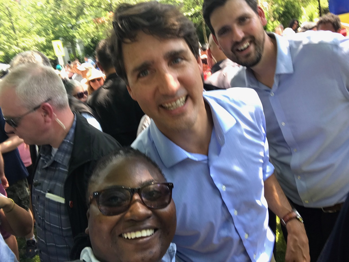 With Canadian Prime Minister Justin Trudeau and MP Sean Fraser, Antigonish, Canada.